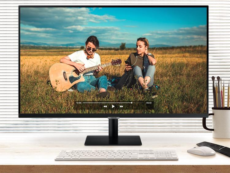 Смарт-монитор Samsung 32M70A позволяет организовать работу без компьютера