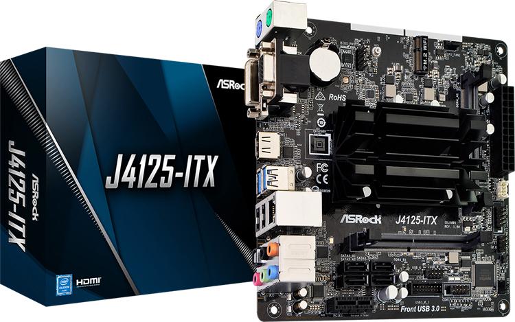 """Плата ASRock J4125-ITX с чипом Intel Gemini Lake Refresh подойдёт для создания домашнего медиацентра"""""""