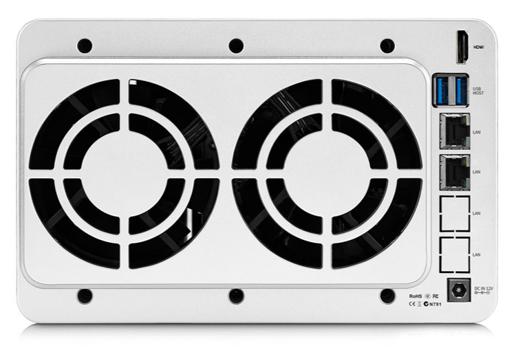 Представлено сетевое хранилище TerraMaster F5-221 на пять накопителей с процессором Intel