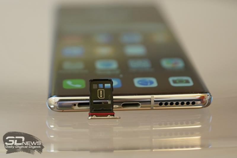 Слот для двух карточек nano-SIM или одной nano-SIM и одной NM