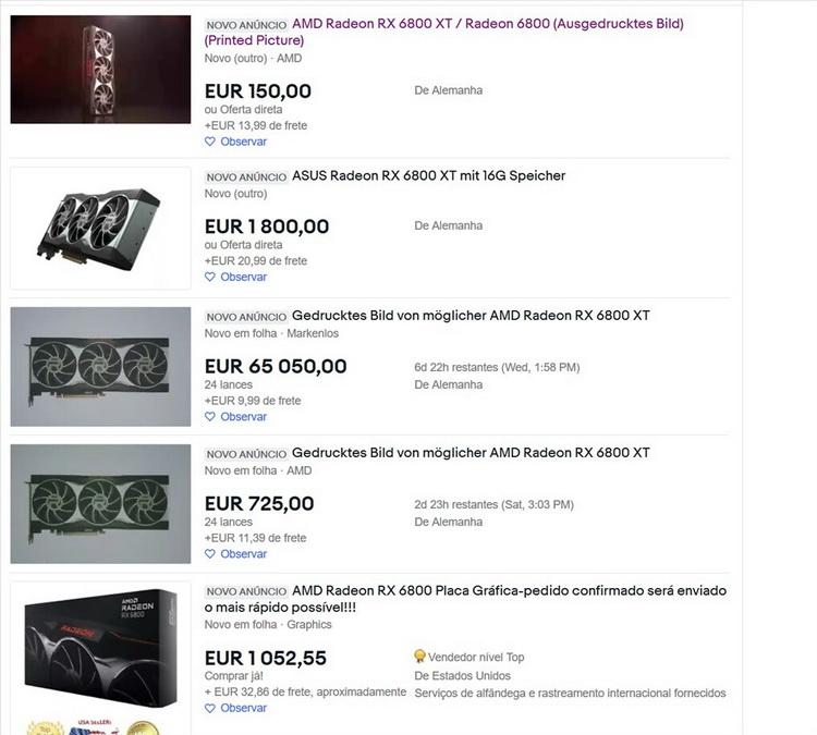 Раскупленные новинки Radeon начали появляться на площадках вторичной торговли