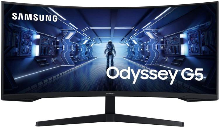 Игровой монитор Samsung Odyssey C34G55T получил вогнутый экран формата UWQHD