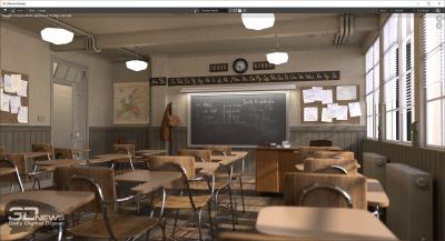 Blender 2.90 classroom (электросеть)