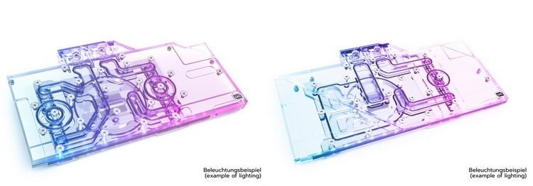 Alphacool Eisblock Aurora для Sapphire Radeon RX 6800 XT Nitro+ (слева) и MSI Gaming X Trio (справа)