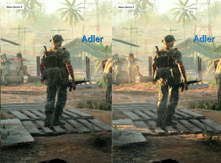 Как видно, тени на Xbox Series X и Xbox Series S различаются