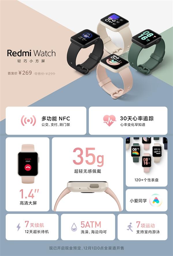 """Xiaomi представила первые смарт-часы Redmi всего за $45"""""""