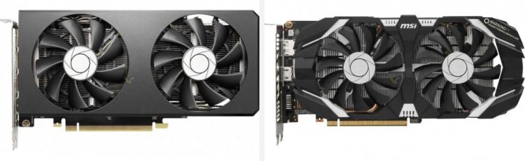 MSI GeForce RTX 3070 Twin Fan и MSI GeForce GTX 1060 TOC