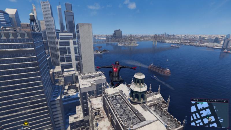 Чего не отнять — город получился пейзажным. А полёты на паутине по-прежнему захватывают дух — особенно с тактильной отдачей от DualSense