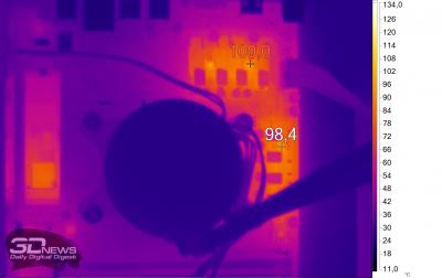 Нагрев Biostar B550MH без нагрузки (AMD Ryzen 7 3800X)