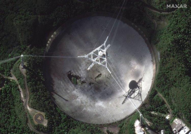 Обрушился гигантский радиотелескоп «Аресибо», который проработал больше полувека