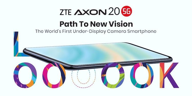 ZTE выпустит первый в мире смартфон с подэкранной камерой Axon 20 5G за пределами Китая
