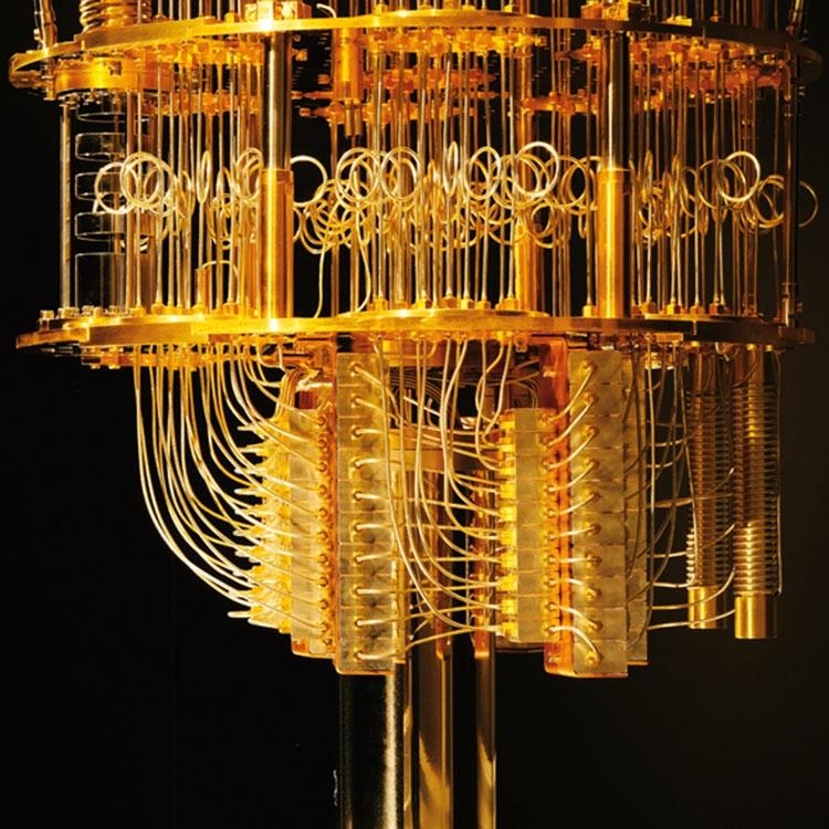 Типичный элемент квантового вычислителя на криогенных кубитах вне холодильника