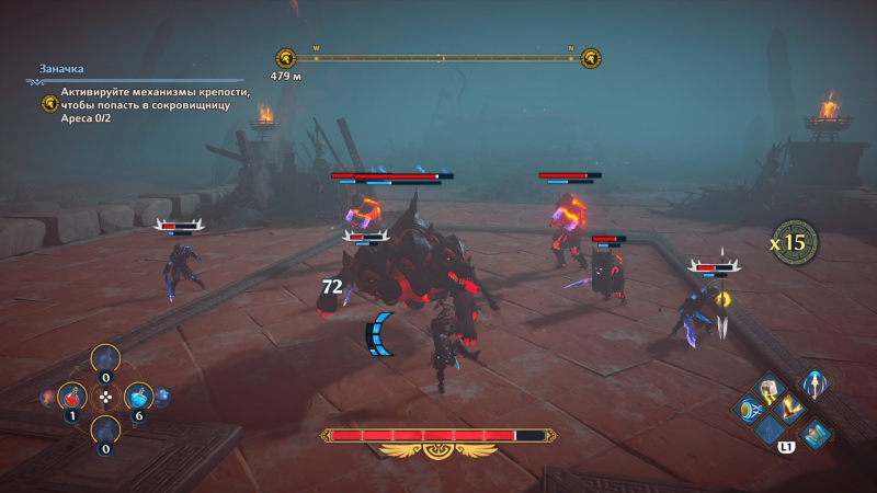 Счетчик комбо — важный элемент в бою: чем он выше, тем скорее атаки начнут исцелять героиню