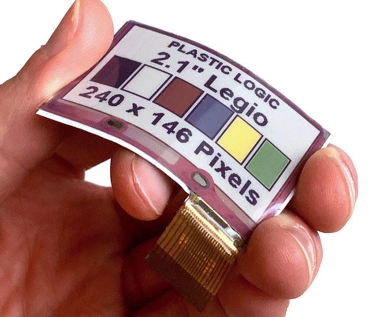 Гибкие цветные электрофоретические дисплеи Источник изображения: Plastic Logic HK