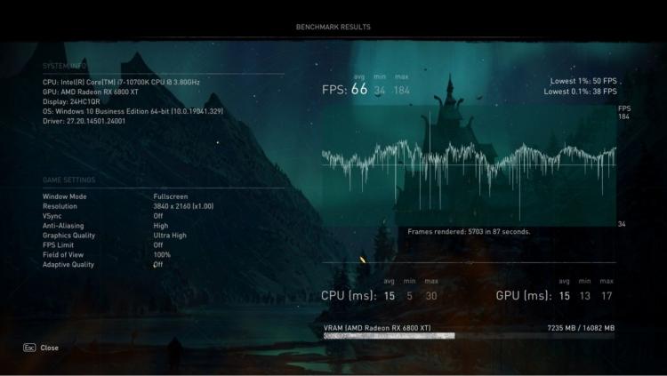 Assassin's Creed Valhalla с включённой Clever Access Memory