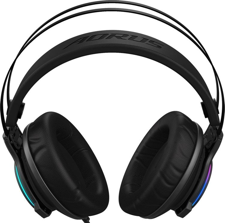 Гарнитура GIGABYTE Aorus H1 с подсветкой обеспечивает виртуальный звук 7.1