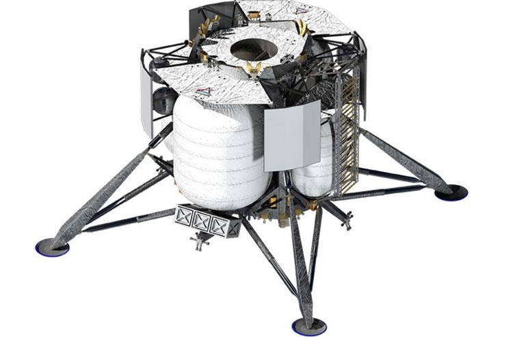 Посадочный лунный модуль Blue Origin будет нести один двигатель BE-7. Источник изображения: Blue Origin