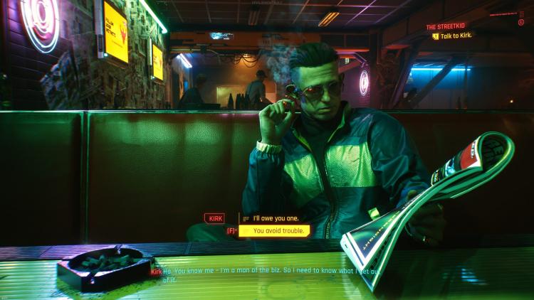 sm.Cyberpunk 2077 Screen 3 scaled.750 - Сюжет Cyberpunk 2077 можно «пробежать» за 22 часа, но в таком случае есть риск получить плохую концовку