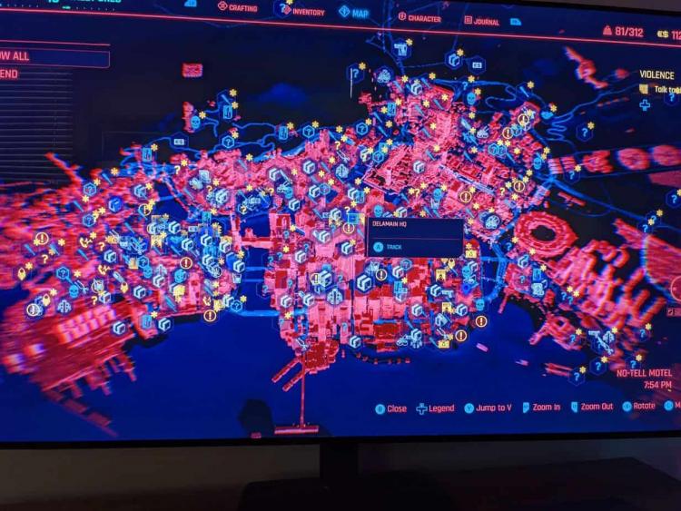 sm.pVGKYr6.750 - Утечка: карта мира Cyberpunk 2077 с массой разнообразных активностей