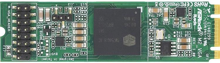ASRock представила миниатюрную видеокарту для слота M.2