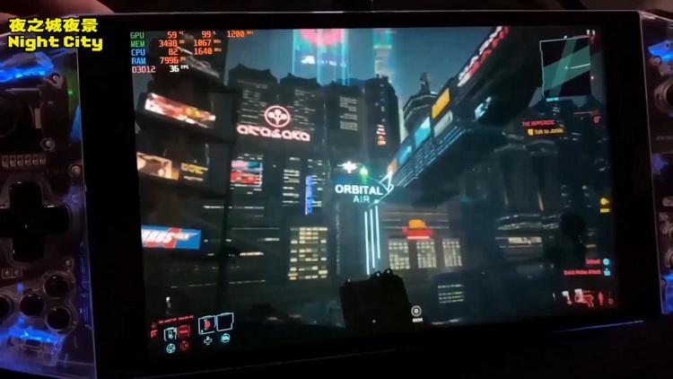 Cyberpunk 2077 запустили на портативной консоли Aya Neo с процессором AMD Ryzen 5 4500U5