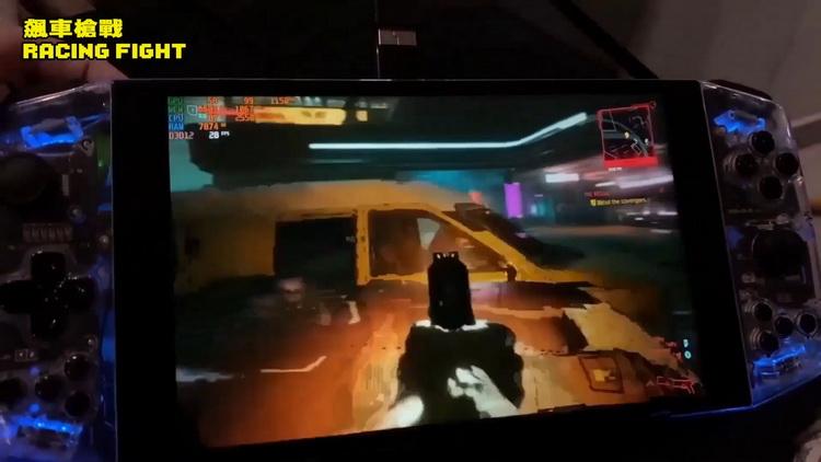 Cyberpunk 2077 запустили на портативной консоли Aya Neo с процессором AMD Ryzen 5 4500U7