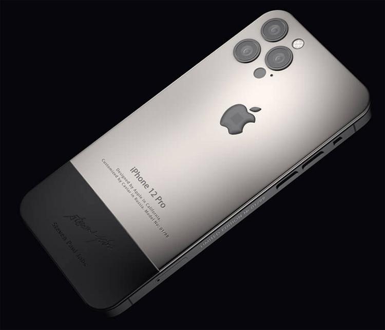 Представлены эксклюзивные iPhone 12 Pro в стиле iPhone 4 с фрагментами водолазки Стива Джобса3