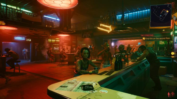 Сцена в баре задействует множество эффектов