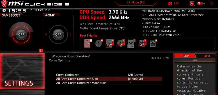 """MSI показала разгон Ryzen 9 5900X через снижение напряжения с помощьюAMD Curve Optimizer"""""""