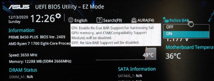"ASUS и MSI показали работу AMD Smart Access Memory на старых процессорах AMD c Zen и Zen 2"""