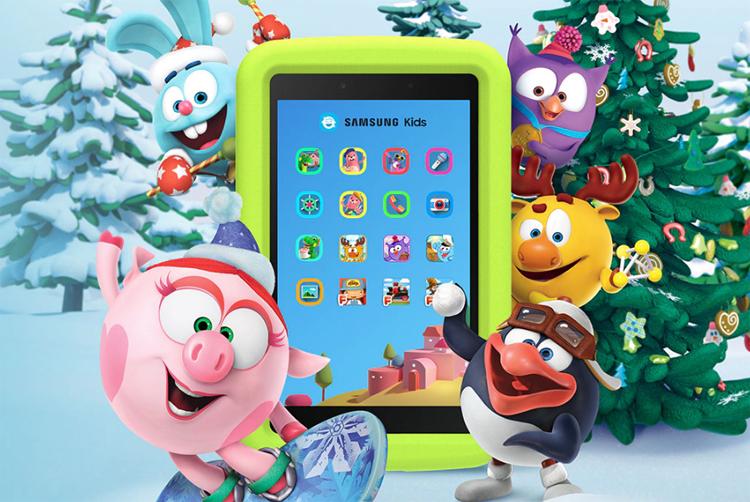 """Детский планшет Samsung Galaxy Tab A 8.0"""" Kids Edition с ярким экраном стоит 11 990 рублей"""""""