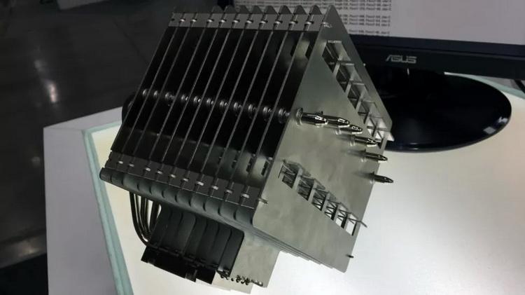Ранний прототип пассивной системы охлаждения Noctua