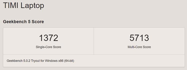 Производительность AMD Ryzen 5 5600H (Geekbench)