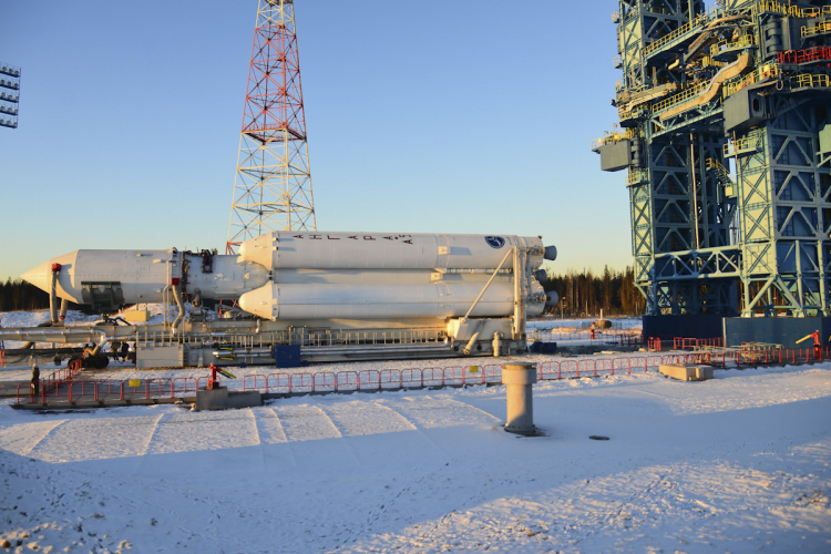 «Ангара-А5» на космодроме Плесецк перед пуском