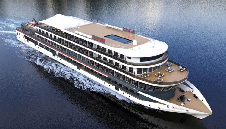 В Китае начали строить крупнейшее в мире электрическое круизное судно на 1300 пассажиров