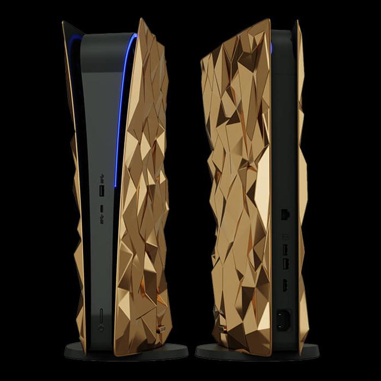 Caviar создала самую дорогую PlayStation 5 в мире: 20 кг чистого золота и контроллер с кожей крокодила