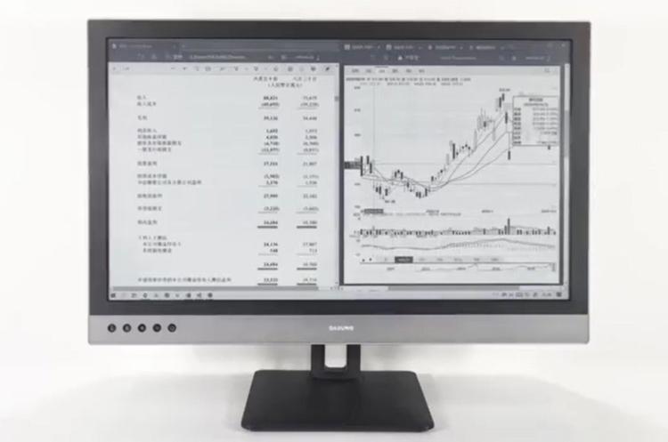 В Китае представили 25-дюймовый монитор на электронной бумаге E Ink с очень высоким разрешением