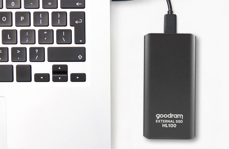 Goodram представила свой первый внешний SSD  накопитель HL100 вмещает до 2 Тбайт данных