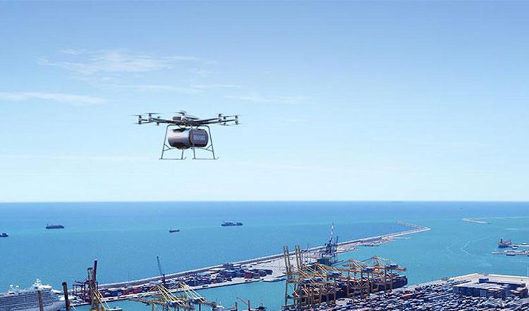 Грузовой дрон Falcon B для посылок весом не более 150 кг. Источник изображения: EHang
