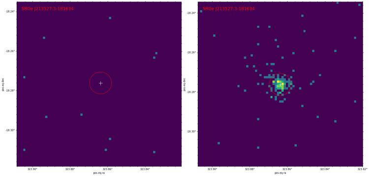 Рентгеновские изображения участка неба размером 5х5 угловых минут в диапазоне 0.3-2.2 кэВ