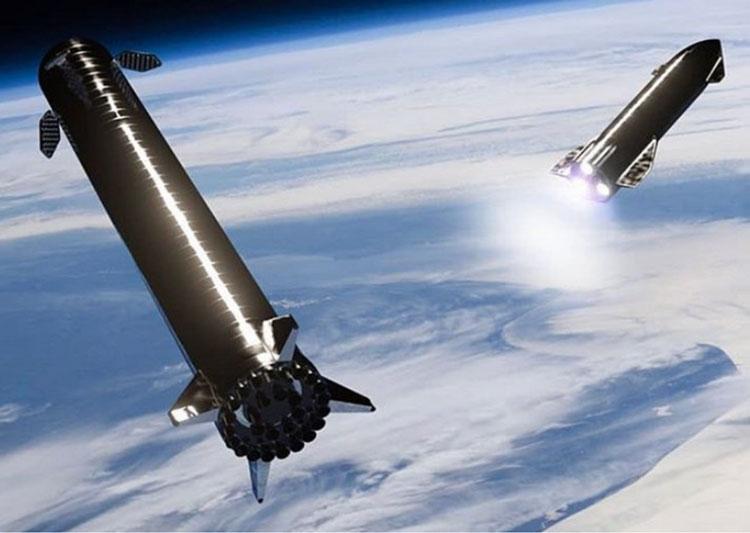 Ускоритель (первая ступень). Источник изображения: SpaceX