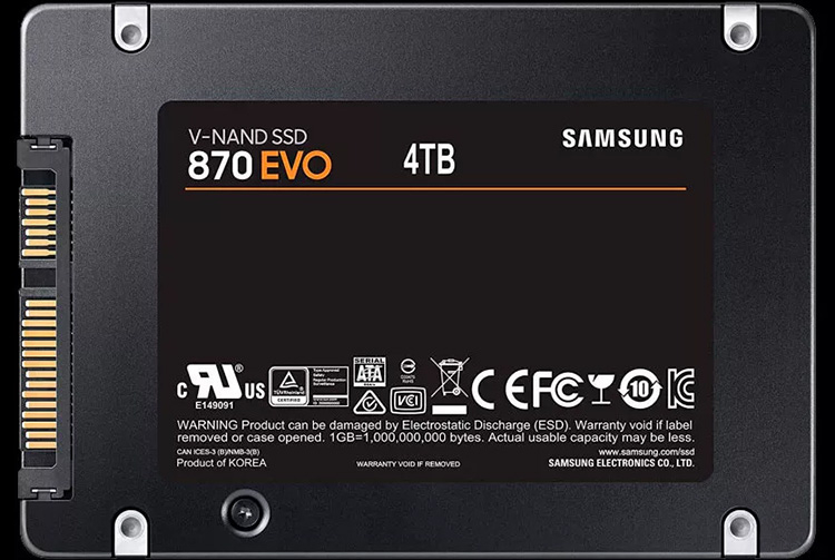 "Данные о характеристиках и ценах SSD Samsung 870 EVO SATA указывают на скорый анонс"""