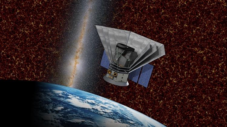 Космический телескоп SPHEREx в представлении художника. Источник изображения: NASA