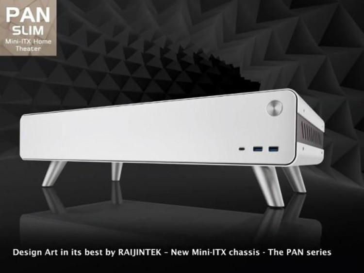 Представлен компактный корпус Raijintek Pan Slim, в который поместится большая видеокарта и СЖО