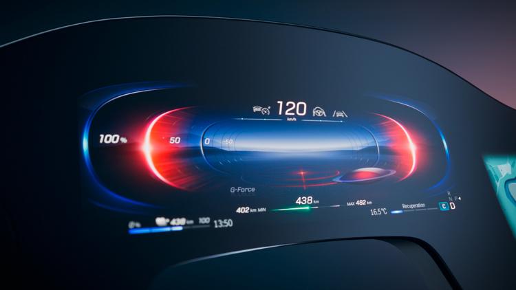 """В Mercedes-Benz показали 56-дюймовый «гиперэкран» для электромобилей"""""""