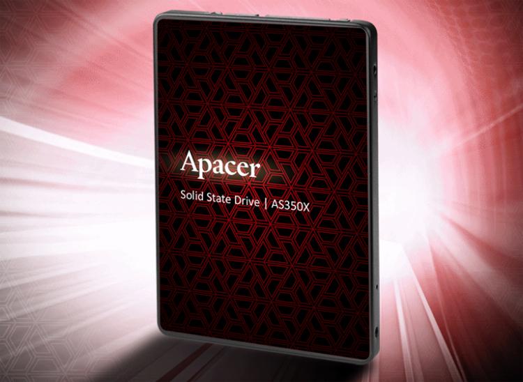 Apacer представила недорогие твердотельные накопители AS350X и AS340X на замену HDD
