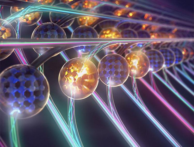 Фотонная матрица IBM в предсталении художника. Источник изображения: IBM Research