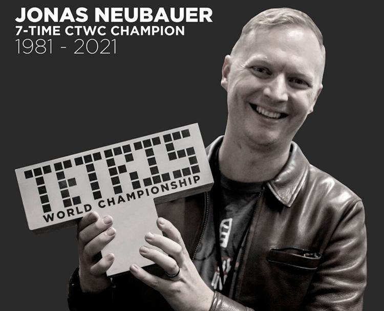 В возрасте 39 лет умер 7-кратный чемпион мира по классическому тетрису Йонас Нойбауэр