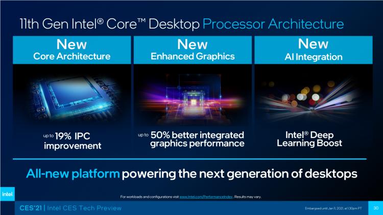Intel рассказала об игровой производительности Core i9-11900K: быстрее Ryzen 9 5900X и Core i9-10900K