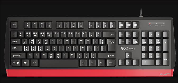 """Доступная клавиатура Genesis Rhod 250 адресована начинающим любителям игр"""""""